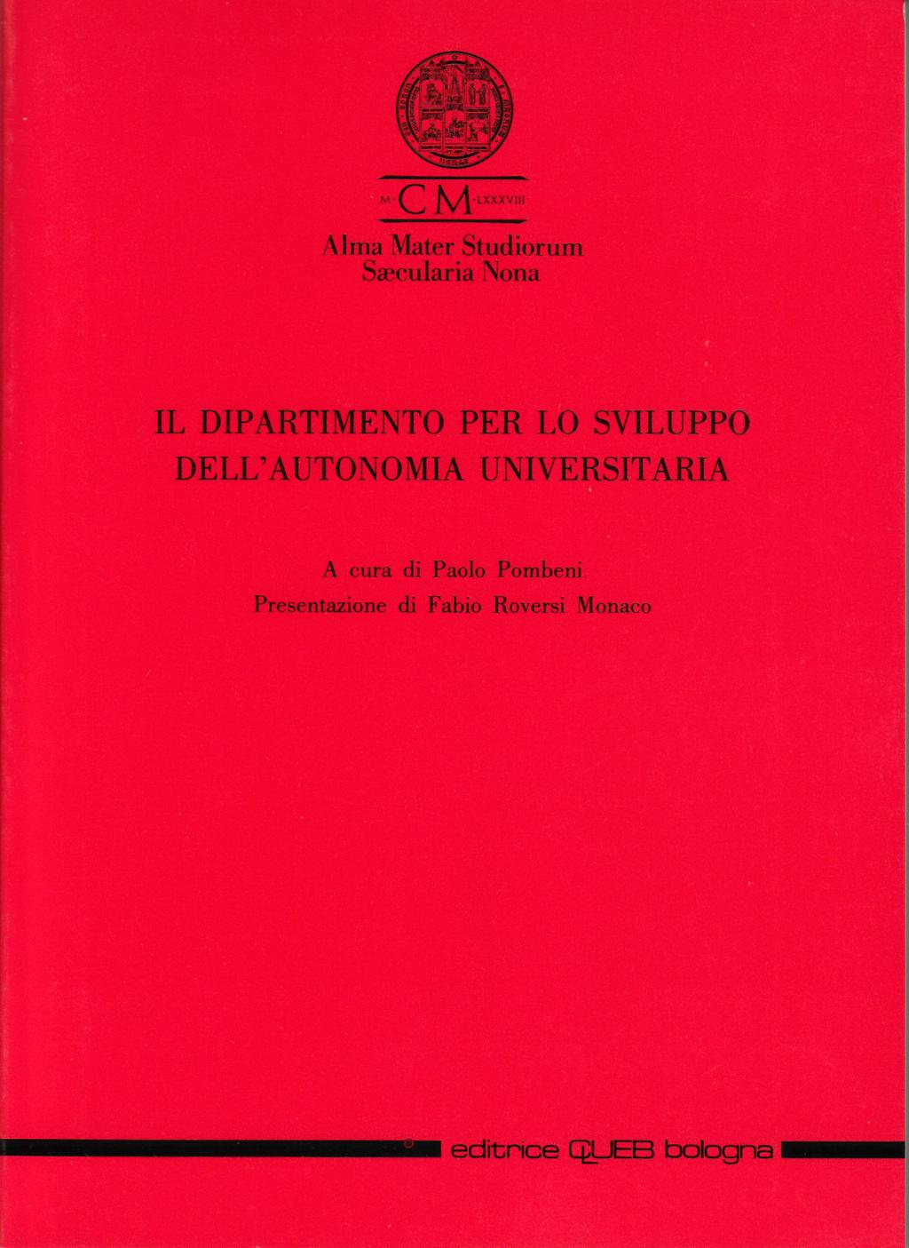 Il dipartimento per lo sviluppo dell'autonomia universitaria