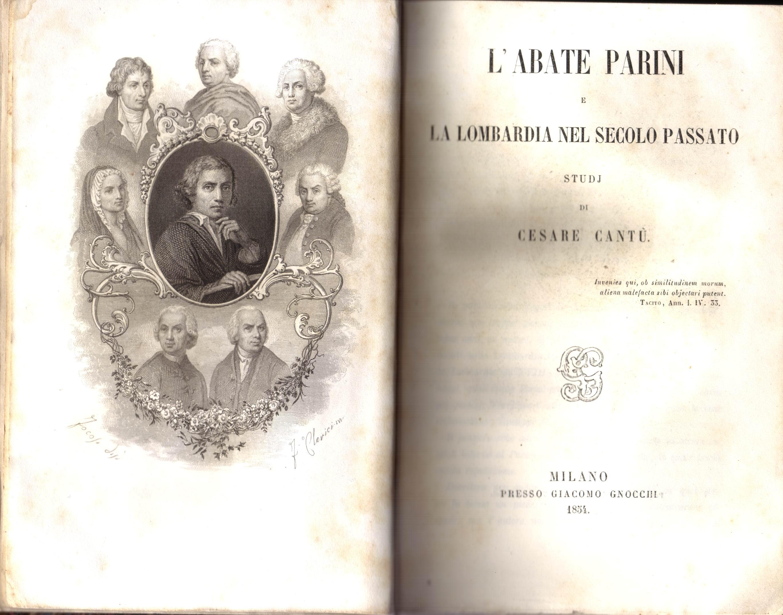 L'abate Parini e la Lombardia nel secolo passato
