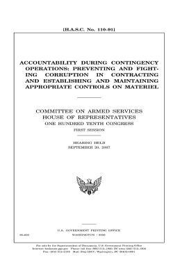 Accountability during contingency operations
