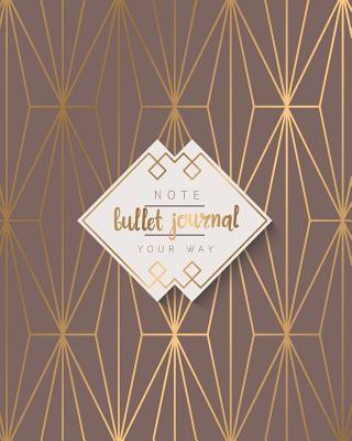 Bullet Journal Dot Grid Geometric Modern Gold Elegance