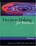 Decision Making for Business