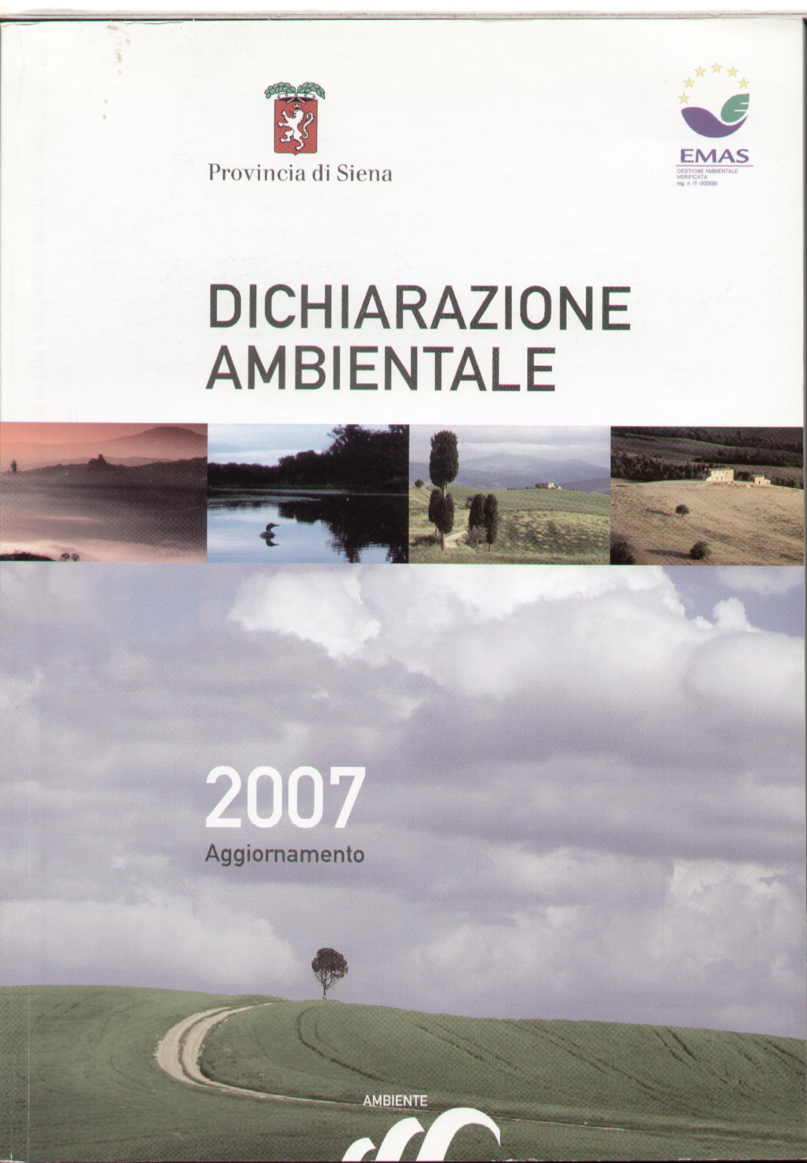 Dichiarazione Ambientale - Provincia di Siena