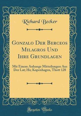 Gonzalo Der Berceos Milagros Und Ihre Grundlagen