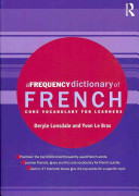 A Frequency Dictionary of French