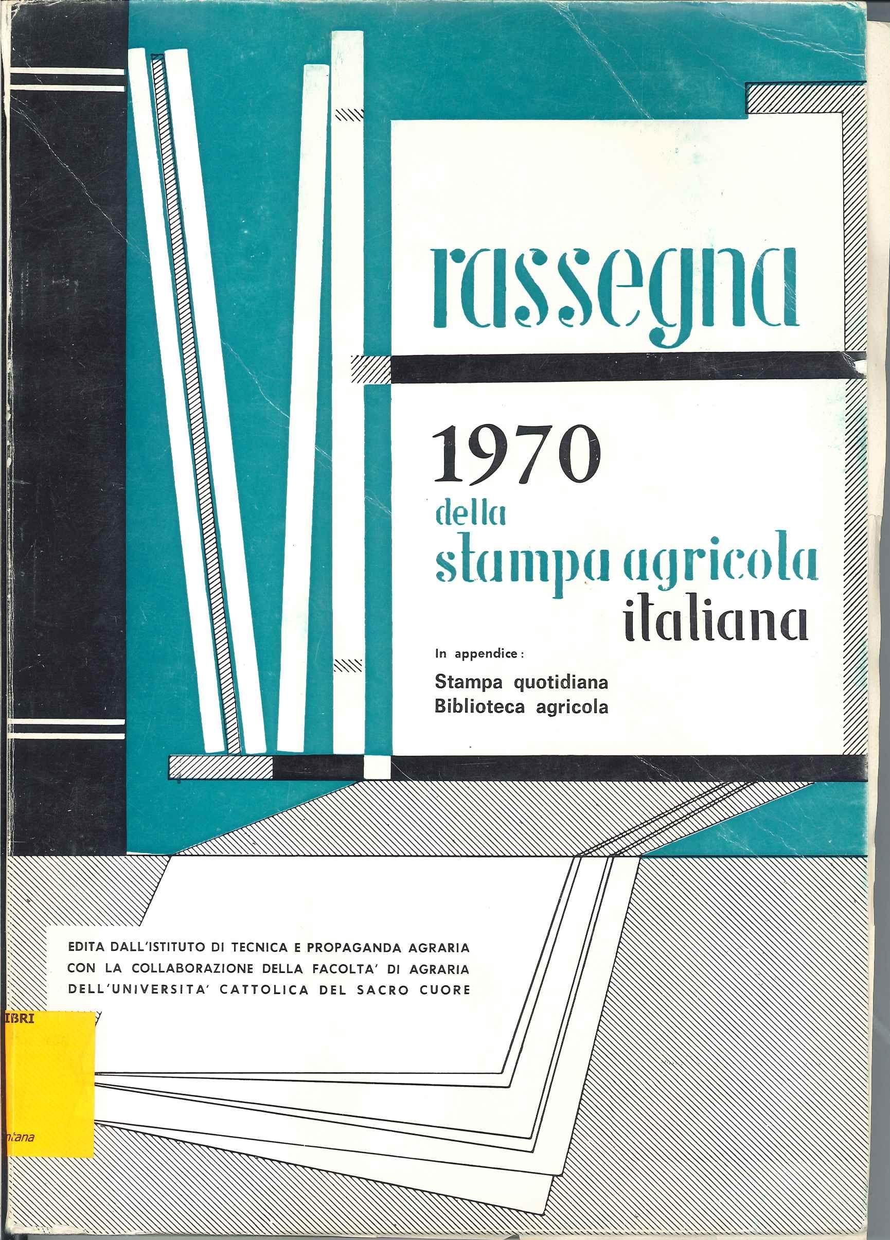 Rassegna 1970 della stampa agricola italiana