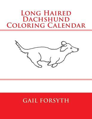 Long Haired Dachshund Coloring Calendar