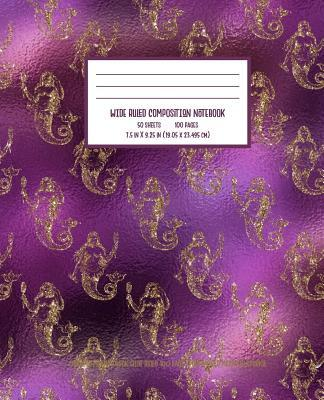 Purple Gold Mermaid Sparkle Composition Notebook