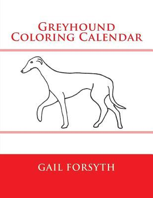 Greyhound Coloring Calendar