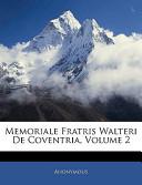 Memoriale Fratris Wa...