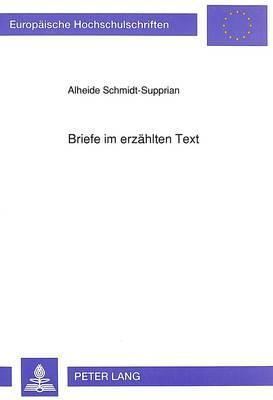 Briefe im erzählten Text