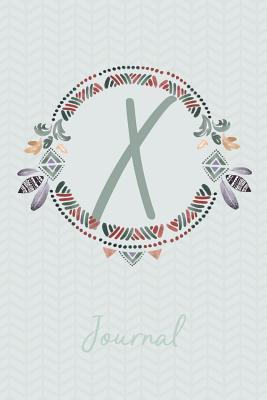 Beautiful Bohemian Style Journal with Initial