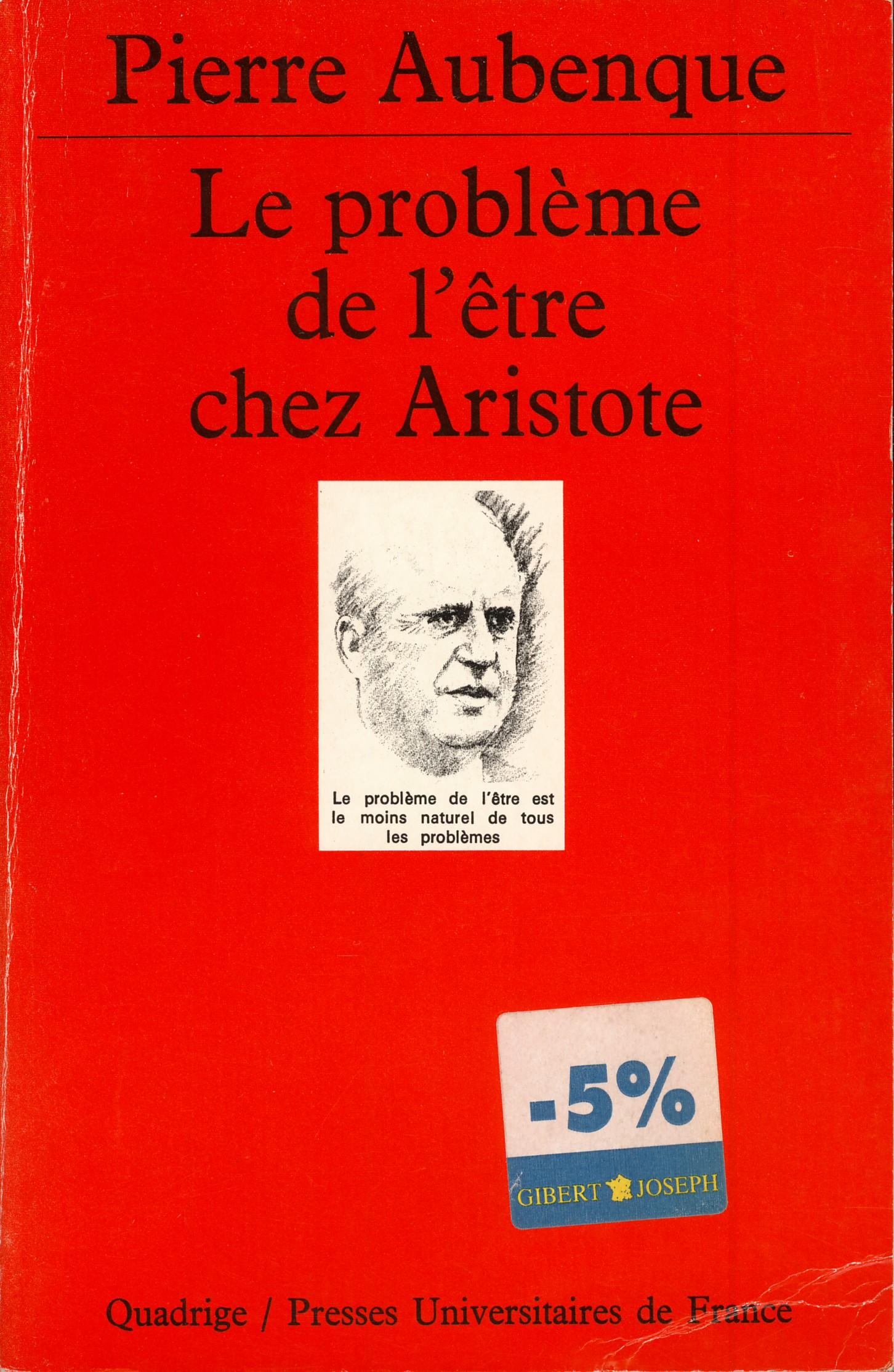 Le problème de l'être chez Aristote
