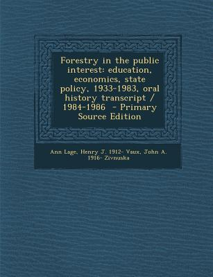 Forestry in the Public Interest