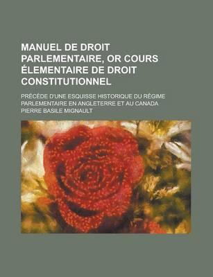 Manuel de Droit Parl...