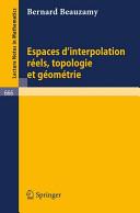 Espaces d'interpolation Réels