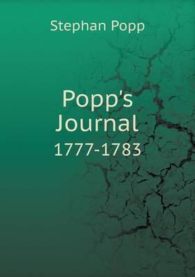 Popp's Journal 1777-1783