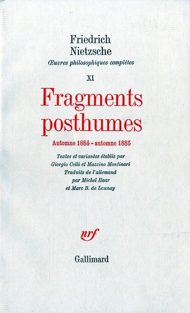Fragments posthumes