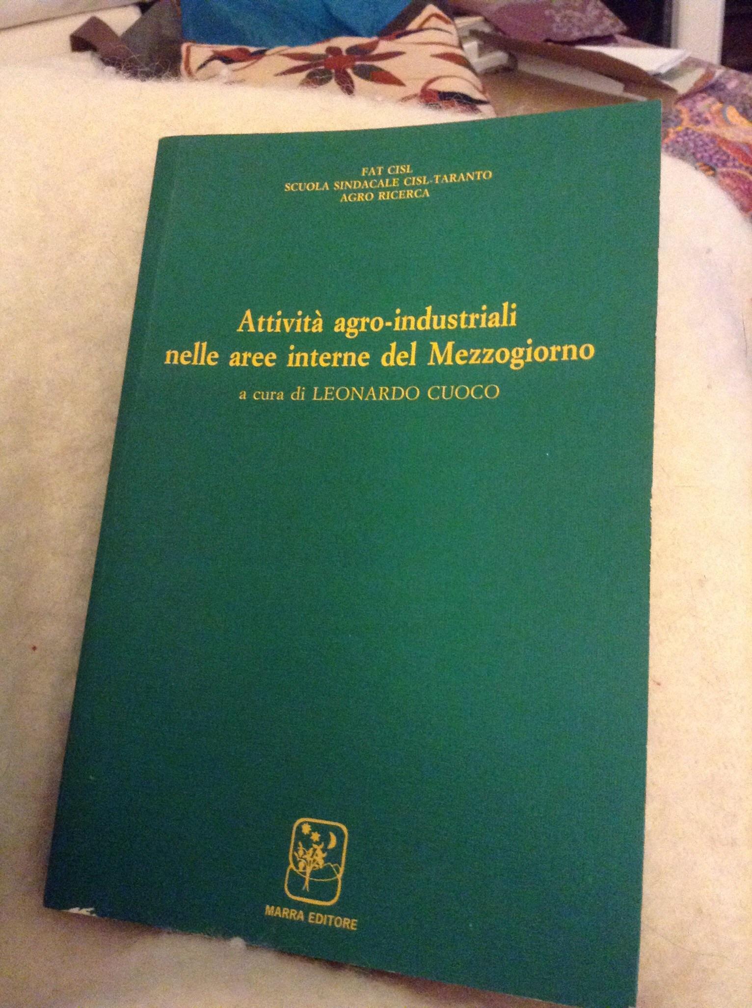 Attività agro-industriali nelle aree interne del mezzogiorno