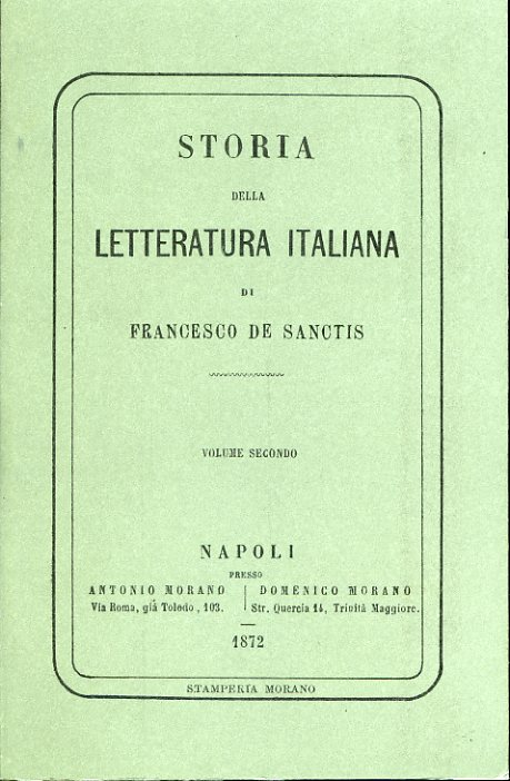 Storia della letteratura italiana - vol 2