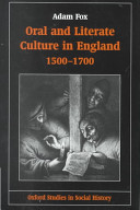 Oral and Literate Culture in England