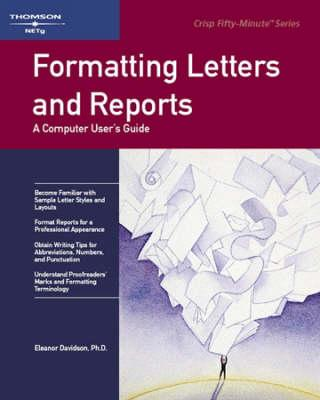 Formatting Letters and Reports