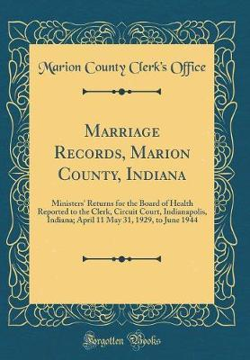Marriage Records, Marion County, Indiana