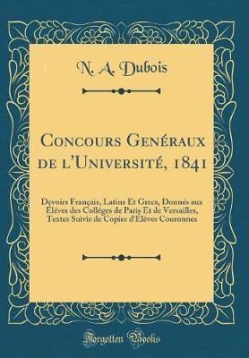 Concours Genéraux de l'Université, 1841