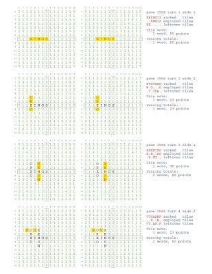Fifty Scrabble Box Scores Games 1551-1600