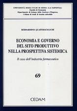 Economia e governo del sito produttivo nella prospettiva sistemica