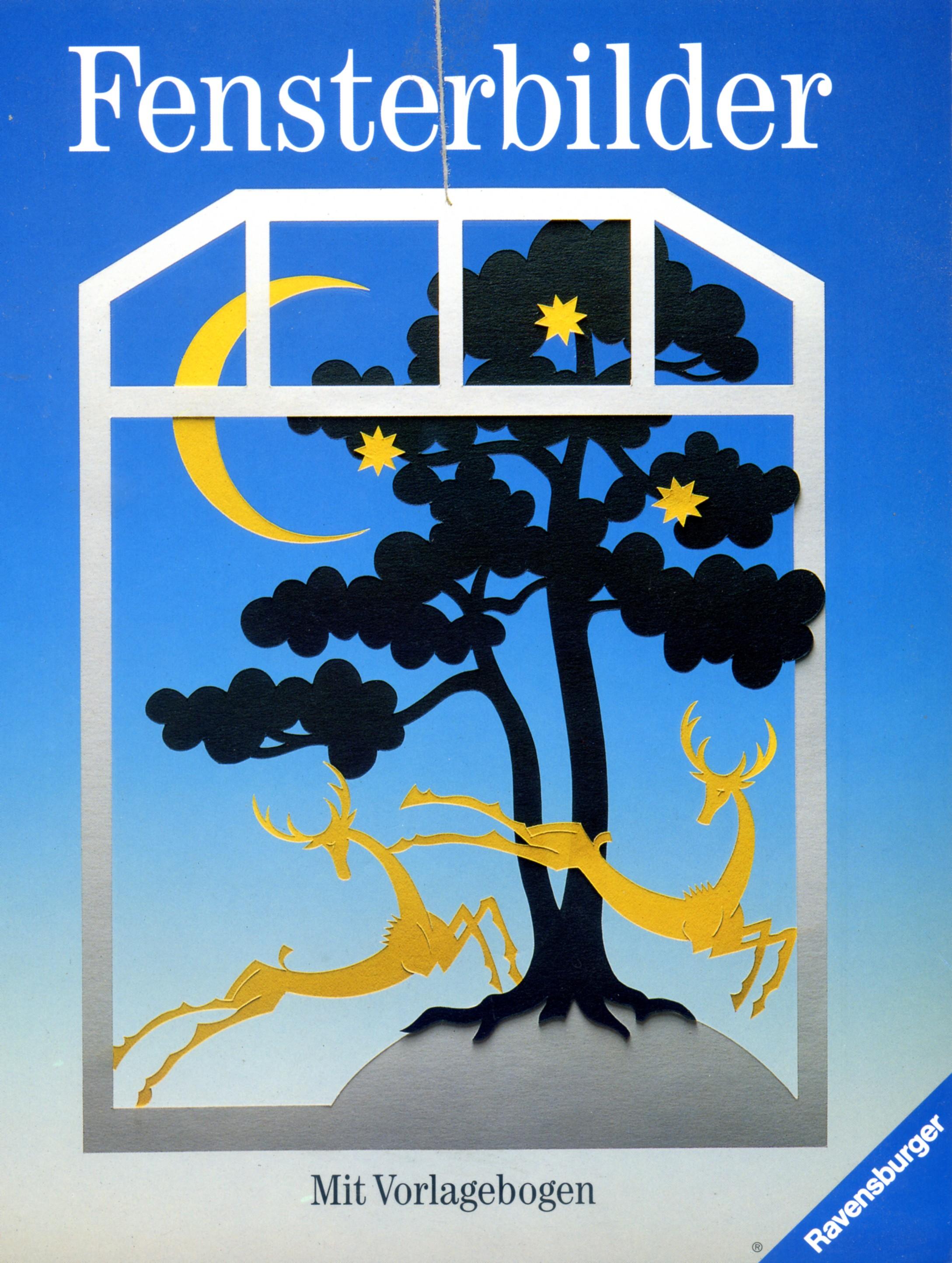 Fensterbilder: mit Vorlagebogen