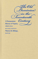 The Old Dominion in the Seventeenth Century