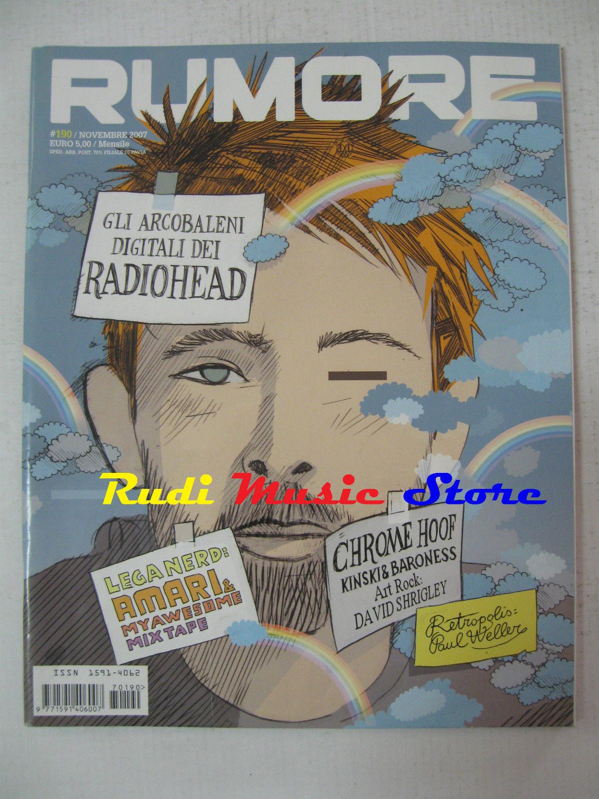 Rumore # 190 Novembre 2007