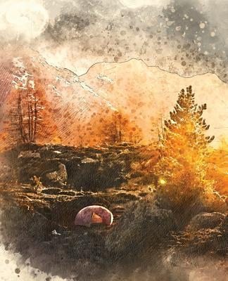 Outdoor Mountain Landscape Survivalist Field Notes Notebook / Composition Journal