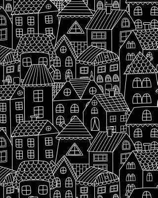 Journal Notebook Cute Houses Pattern 1