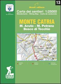 Monte Catria. M. Acuto, M. Petrano, Bosco di Tecchie. Carta dei sentieri 1