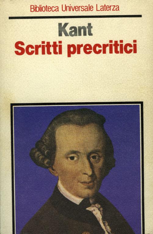 Scritti precritici