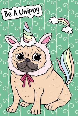 Bullet Journal Notebook For Dog Lovers Unicorn Pug - Green