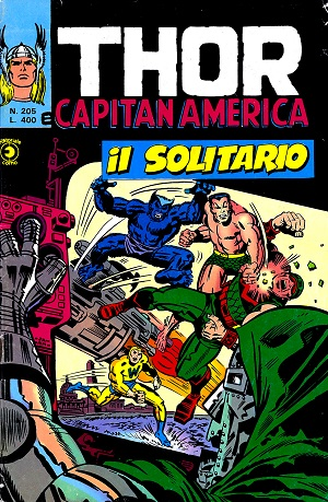 Thor e Capitan America (Il Mitico Thor) n. 205