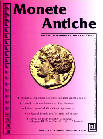 Monete antiche A. XII n. 71 (settembre/ottobre 2013)