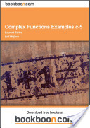 Complex Functions Examples c-5