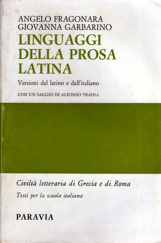 Linguaggi della prosa latina