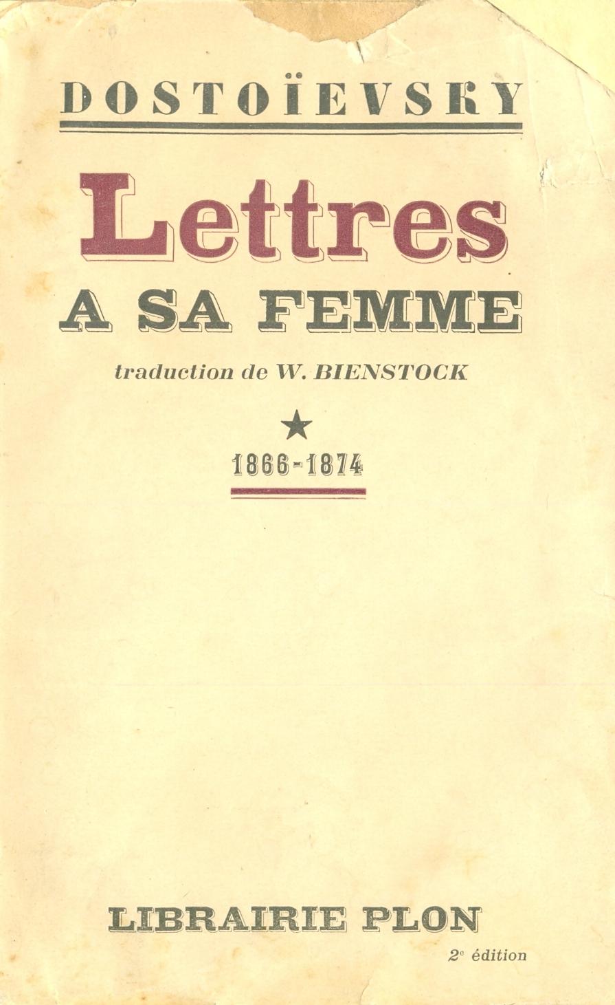 Lettres a sa femme