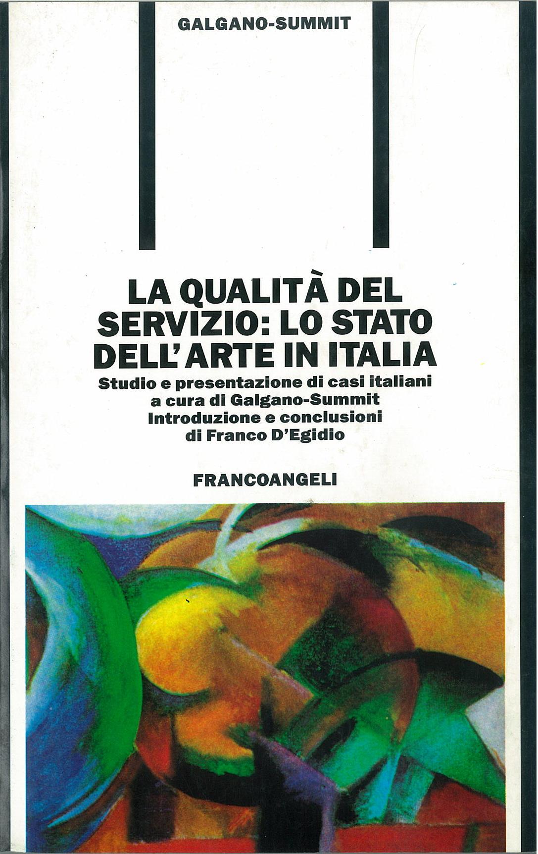 La qualità del servizio: lo stato dell'arte in Italia