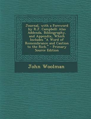 Journal, with a Foreword by R.J. Campbell