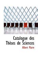 Catalogue Des Thauses de Sciences