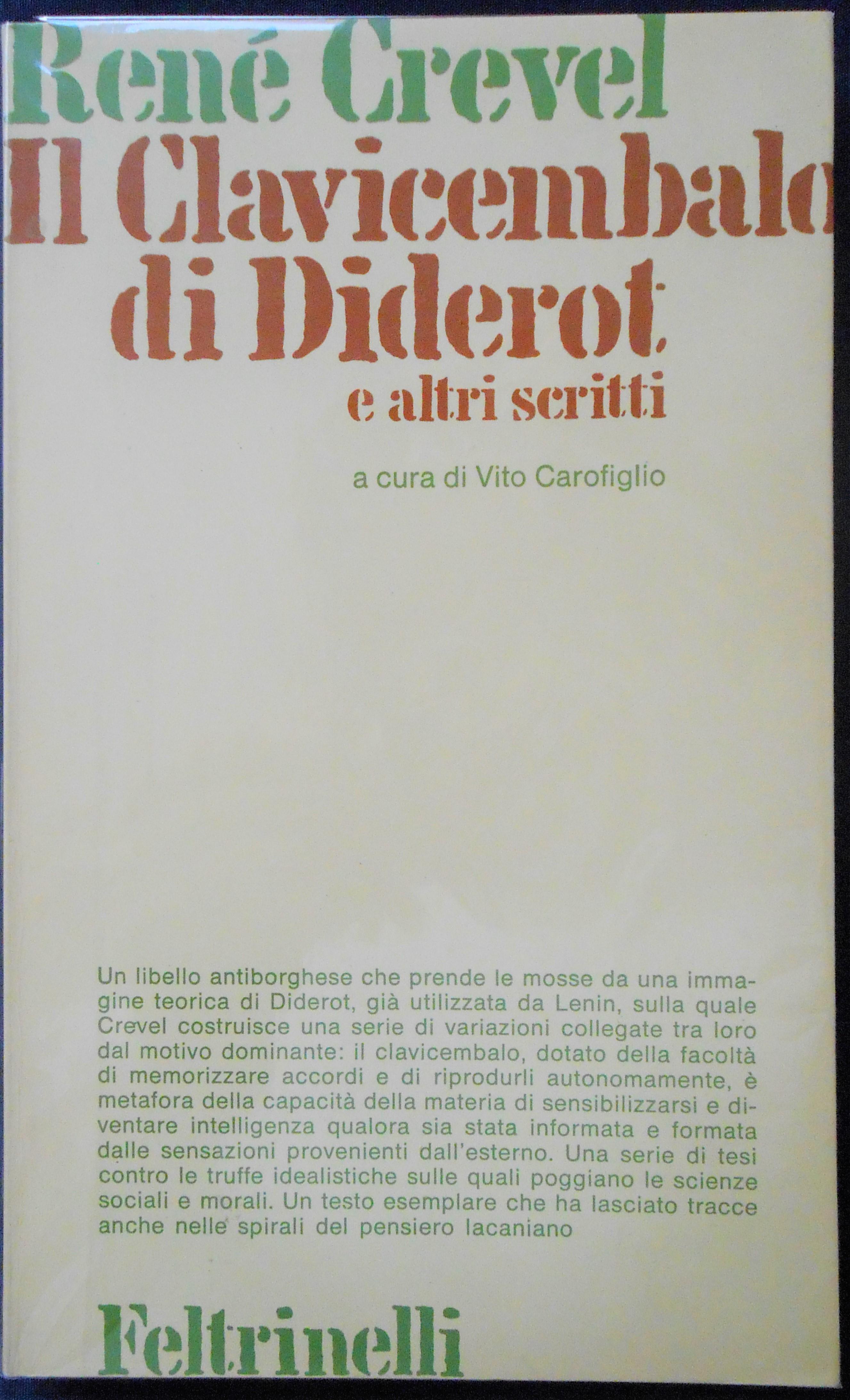 Il clavicembalo di Diderot e altri scritti