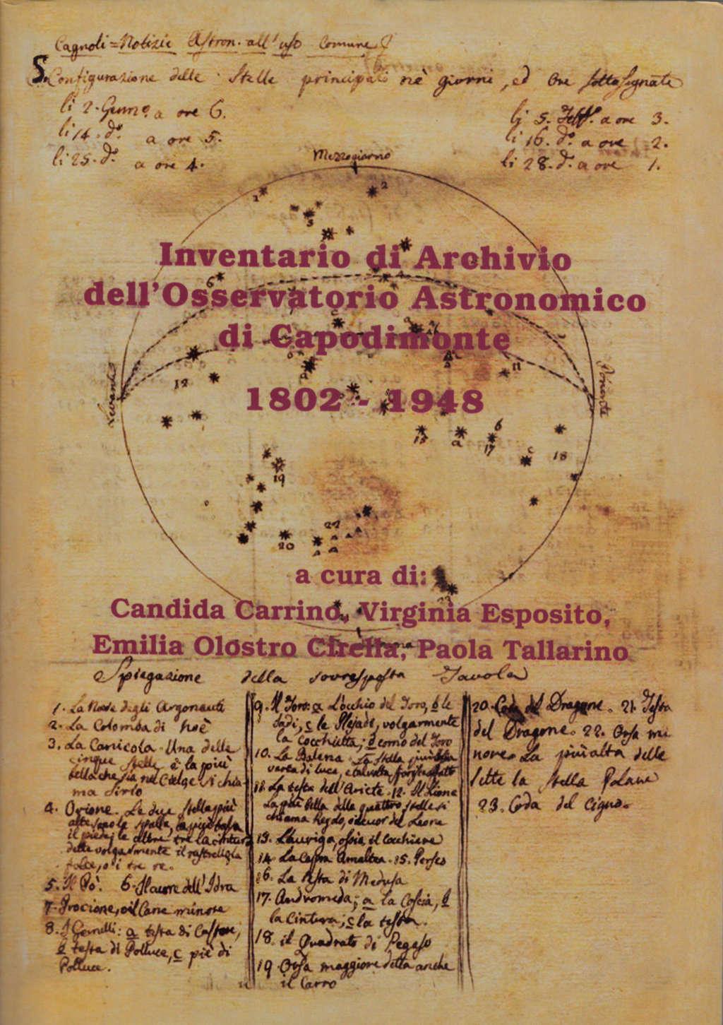 Inventario di Archivio dell'Osservatorio astronomico di Capodimonte