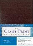 NIV Holy Bible Giant Print Reference Edition, Burgundy Leather-Look