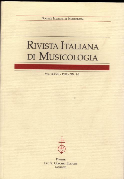 Rivista italiana di musicologia