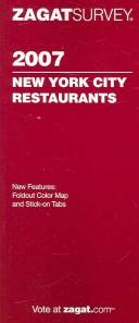 Zagat Survey 2007 New York City Restaurants